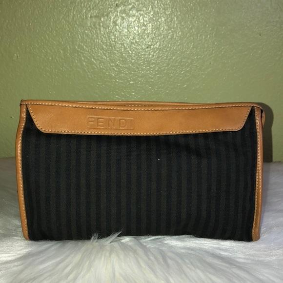 c082e5f10d1e Fendi Handbags - Authentic Fendi Canvas Leather Cosmetic Bag